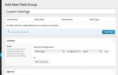 Custom Fields Group