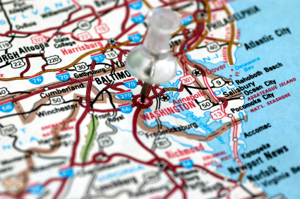 Washington DC in map
